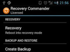 Recovery Commander License 2.0 Screenshot