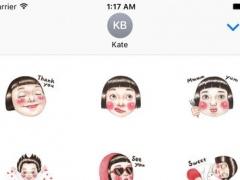Red Cheek Baby Girl Stickers 1.0 Screenshot