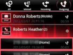 Red ICS GO Contacts EX Theme 1.8 Screenshot