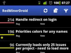 RedMinerDroid, Redmine client 1.3.1 Screenshot