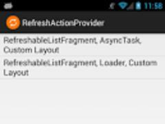 RefreshActionProvider 1.0 Screenshot