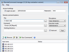 Remote Command manager 2.5 Screenshot