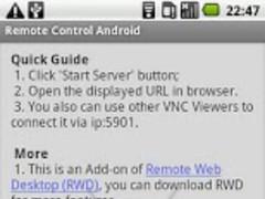 Remote Control Add-on 1.3.2 Screenshot