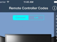 Remote Controller Codes for Shaw Direct 1.7.0 Screenshot