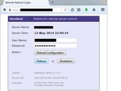 Remote Reboot Utility 4.7.0.0 Screenshot