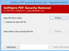 Remove Adobe PDF Password Protection 3.9.8 Screenshot