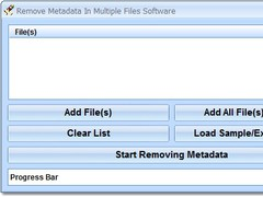 Remove Metadata In Multiple Files Software 7.0 Screenshot