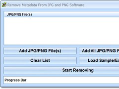 Remove Metadata From JPG and PNG Software 7.0 Screenshot