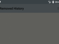 Removed History 1.8.1 Screenshot