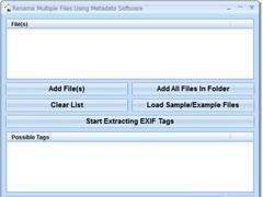 Rename Multiple Files Using Metadata Software 7.0 Screenshot