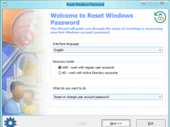 Reset Windows Password 7.1.0 Screenshot