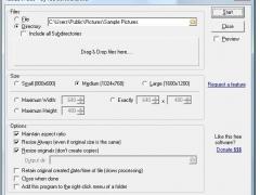 Resize JPEGs 1.01 Screenshot