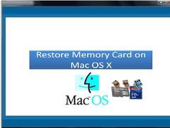 Restore Memory Card on Mac OS X 1.0.0.25 Screenshot