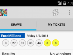 Result for EuroMillions Lotto 1.8 Screenshot