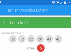 Results for BC Lottery - Lotto 4.0 Screenshot