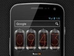 Retro clock. Nixie. Widget 3.0 Screenshot