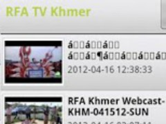 RFA TV Khmer 1.5 Screenshot