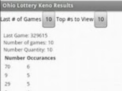 Rhode Island Lottery Keno 4 Screenshot