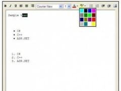 Rich Text Editor user control for .Net  Screenshot