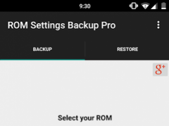 ROM Settings Backup Pro 2.45 Screenshot