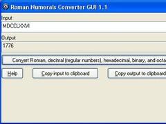 Roman Numerals Converter 1.2 Screenshot