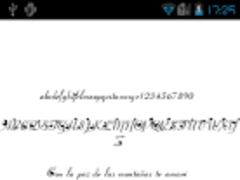 Romantic FlipFont® Free 2.2 Screenshot