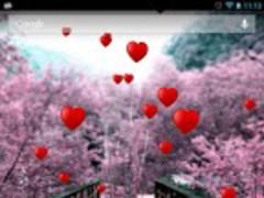 Romantic floating hearts LW 1.1.7 Screenshot