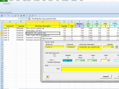 RoofCOST Estimator for Excel 14.1 Screenshot