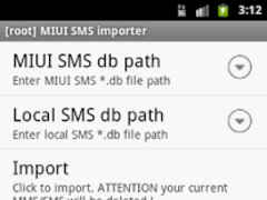 [root] MIUI SMS Importer 1.0 Screenshot