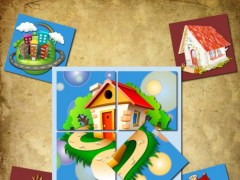 Rotate and move the puzzle pieces. Toy House. Lite Free 2.0 Screenshot