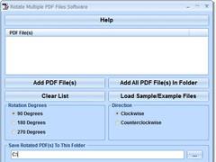 Rotate Multiple PDF Files Software 7.0 Screenshot
