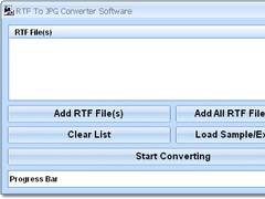 RTF To JPG Converter Software 7.0 Screenshot