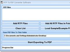 RTF To PDF Converter Software 7.0 Screenshot