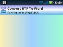 RTF To Word (.doc) 1.1 Screenshot