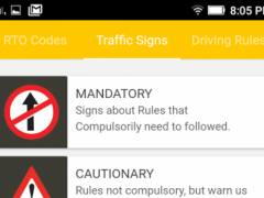 RTO codes and Traffic rules 0.0.3 Screenshot