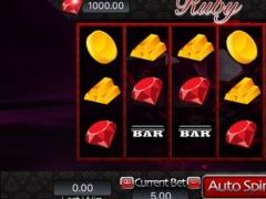 Ruby Jackpot Slots Machine - Free Mania Game 2.1 Screenshot