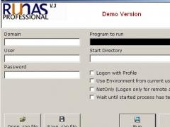 RunAs Professional 3 Screenshot