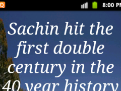 Sachin Facts Live Wallpaper 2.0 Screenshot