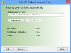Safe PST Backup for Microsoft Outlook 2.64 Screenshot