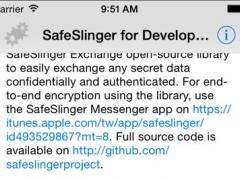 SafeSlinger Exchange for Developers 1.1.0 Screenshot