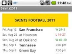 Saints Football Schedule 1.1 Screenshot
