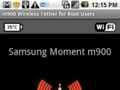 Samsung Moment WiFi Tether 2.0.2 Screenshot