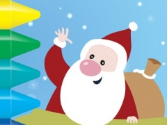 Santa Calus coloring and ABCs - 123s activities kids games 1.0.0 Screenshot