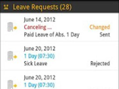 SAP Leave Request 2.4.6 Screenshot