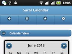 Saral Calendar 1.03 Screenshot
