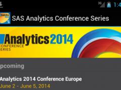 SAS Analytics Conference 00c Screenshot