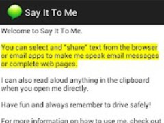 Say It To Me (Free) 1.3 Screenshot
