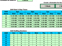 Schedule Multiple Shifts Automatically 7.11 Screenshot