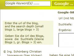 SCHOENBERG - Google Sitemap Generator 1.0 Screenshot