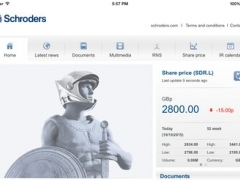 Schroders Investor Relations app for iPad 2.2.0 Screenshot